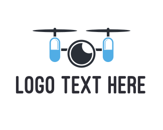 Helicopter - Capsule Drone logo design