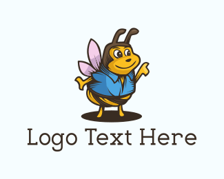 Wasp - Cute Wasp logo design