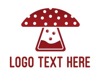 Ingredients - Mushroom Laboratory logo design