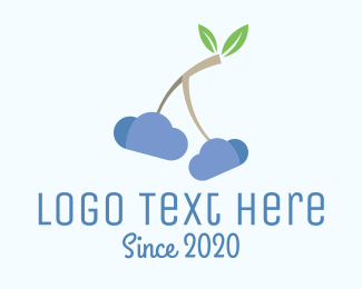 Berry - Cherry Cloud logo design