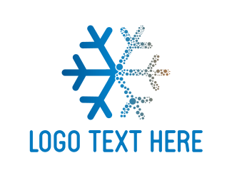 Cold - Blue Snowflake logo design