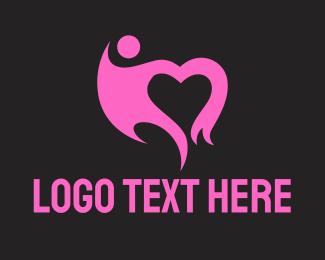 Foundations - Black Heart logo design