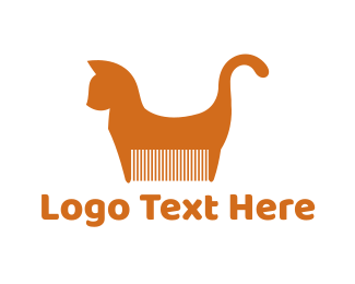 Brush - Cat Comb logo design