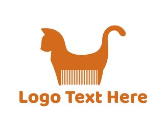 Comb - Cat Comb logo design
