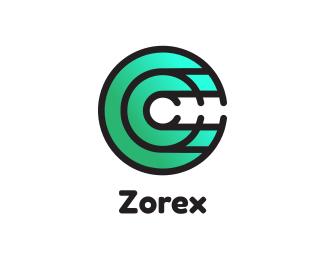 Gradient Gradient Green Disc C logo design