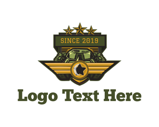 Rank - Military Tank logo design