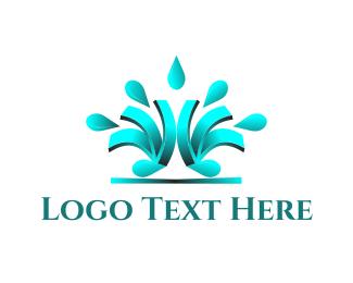 Droplet - Liquid Letter M logo design