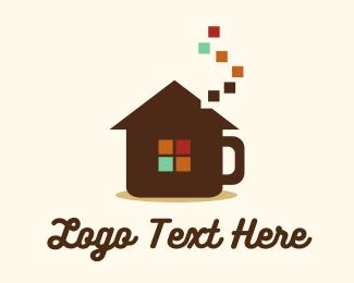 Coffee Shop - Coffee House Pixel logo design