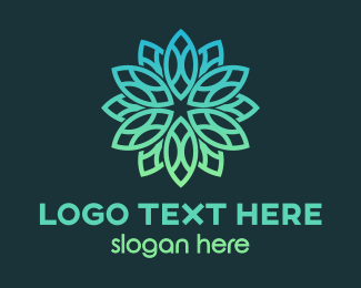 Mandala Flower Pattern Logo Maker
