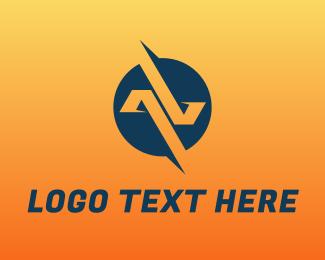 Av - A & V logo design