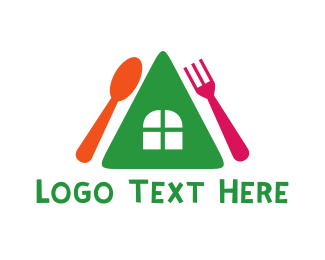 Dining - Colorful House Restaurant logo design