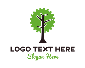 Lumberjack - Industrial Tree logo design