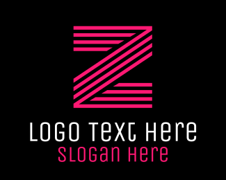 Programming - Striped Pink Letter Z logo design