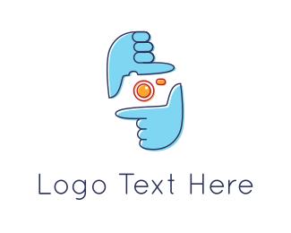 Frame - Hand Snap logo design