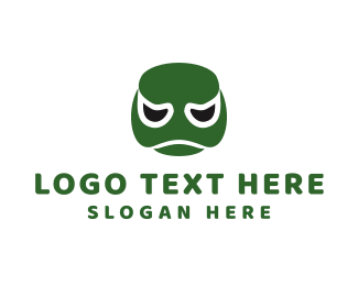 Frog - Turtle Face logo design
