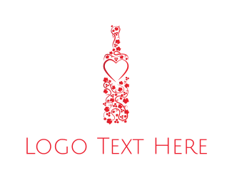 Pub - Flowers & Wine logo design