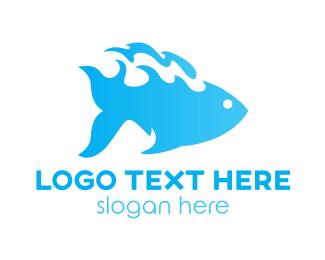 Fisherman - Water Fish logo design