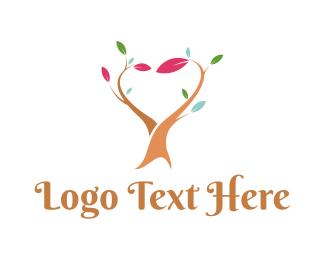 Gardener - Love Tree logo design