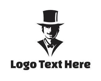 Tuxedo - Black & White Gentleman logo design