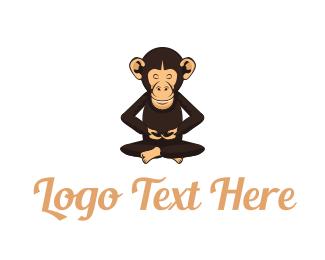 Buddhism - Chimp Monk logo design