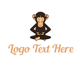 Chimpanzee - Chimp Monk logo design