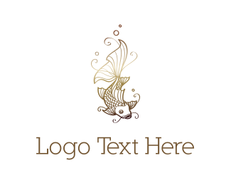 Chinese - Golden Koi  logo design