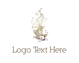 Japanese - Golden Koi  logo design