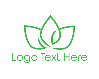 Acupuncture - Green Lotus logo design