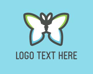 Kiss - Beauty Butterfly logo design