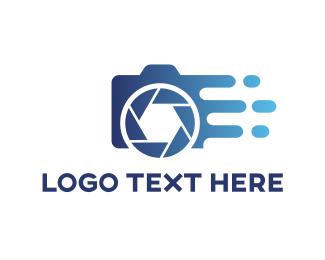 Photographer - Water Camera logo design