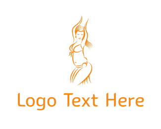 Arabic - Belly Dancer logo design