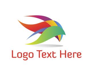 Plumage - Colorful Plumage logo design