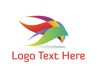 Plumage - Colorful Plumage logo design