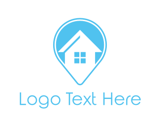 House Cleaning - Blue House Locator logo design
