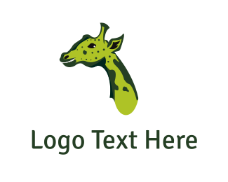 Savanna - Green Giraffe logo design