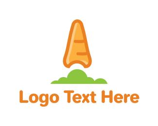 Vegetarian - Organic Carrot logo design