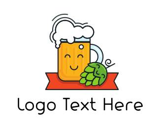 Bar - Happy Beer logo design