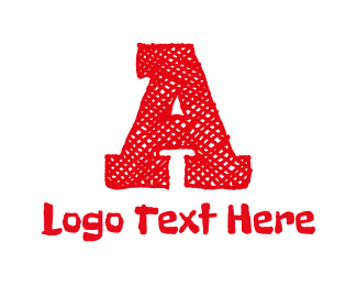 Text - Red Letter A logo design