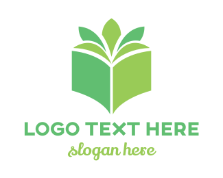 Botanist - Book Plant logo design