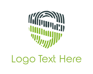 Secret - Fingerprint Shield logo design