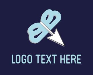 Click - Arrow Butterfly logo design