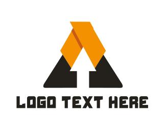 Letter A - Arrow Triangle logo design