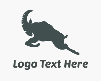 Leap - Grey & Strong Ram  logo design
