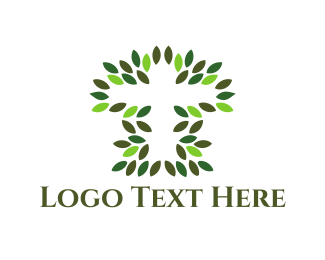 Jesus - Natural Cross logo design