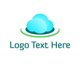 Cloud - Blue & Green Cloud logo design