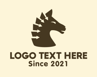 Horse - Arrow Horse logo design