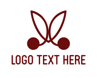 Berry - Red Cherries logo design