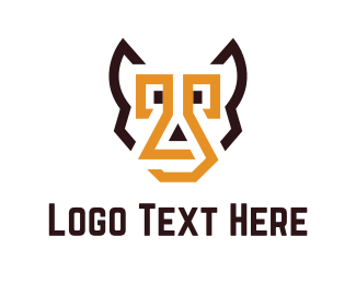 Wolf - Abstract Pet logo design
