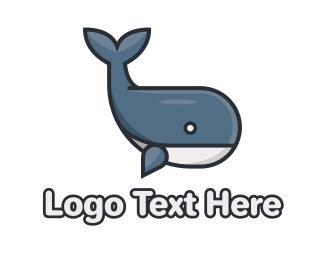 Nautical - Cute Whale logo design