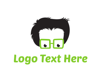 Technology - Geek & Glasses Cartoon logo design